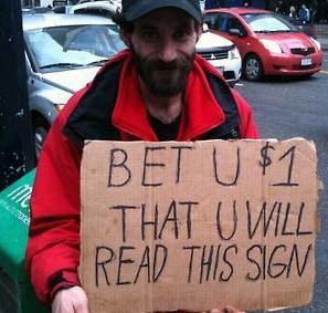 A reasonable facsimile. Courtesy of funnysign.com